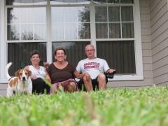 Billy the dog - Ruth, Janet, Joe
