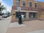 Standing on the Corner in Winslow Arizona