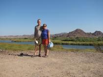 Jim & Janet kayaking, hiking & camping on the Colorado