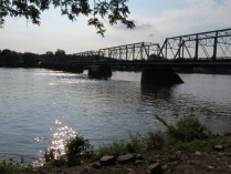 view of the Delaware & New Hope Toll Bridge built in 1814