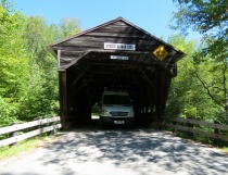 Driving through covered bridges