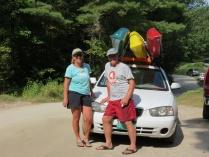 Diane, Tom & kayaks