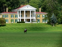 Polo in front of the Bryn Du Mansion