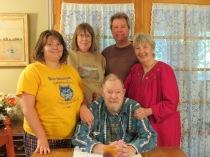 David Sr, sitting,  L-R, Taylor, Judith, David Jr., Sharon