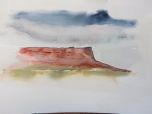 2nd painting, Vermillion Cliffs