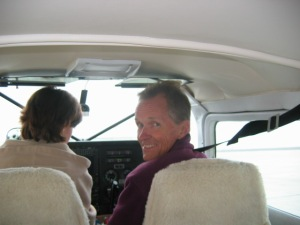 Jim ready to Fly to Baja