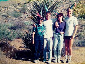 Janet, Gene, Pat, Kevin in the desert
