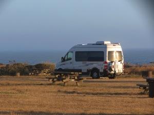 My Campsite north of Westport, CA