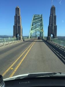 Approaching Center Span. Yaquina Bay Bridge