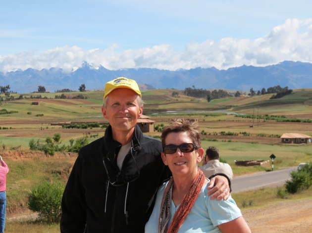 Jim and me on our last travel adventure together, Peru