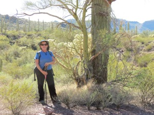 Janet, Hiking Alamo Canyon